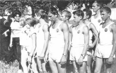 Ze sportowcami (Spartakiada Szkół Rolniczych), lata 60-te