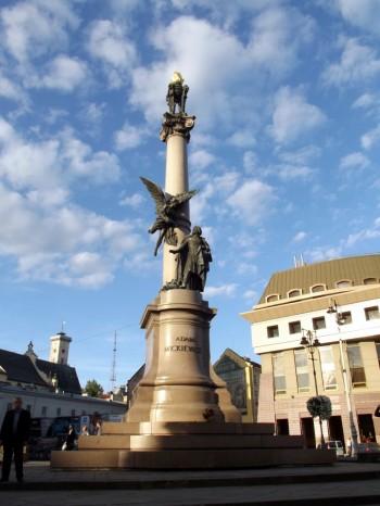 Pomnik Mickiewicza we Lwowie