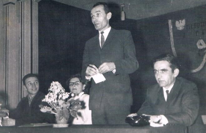 Oficjalne wystąpienie kier. S. Machnika na spotkaniu z młodzieżą starszych klas w TRŁ w Lidzbarku Warmińskim w lutym 1968 r.