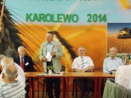 Na spotkaniu Seniorów Oświaty Rolniczej 24.05.2014. Od prawej S. Machnik. dyrektorzy R. Kawczyński. J. Paukszto, R. Arłukowicz