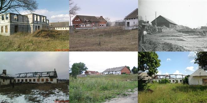 """Gospodarstwo szkolne przed zniszczeniem i to co z niego zostało czyli """"Krajobraz po bitwie"""""""